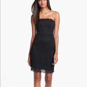 DIANE VON FURSTENBERG Black Walker Tube mini dress